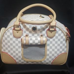 Chewy Vuitton Look Dog Carry Bag